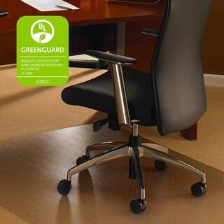 "Cleartex Rectangular Floor Protection Chairmat - XXL, 60""x60"", Clear"