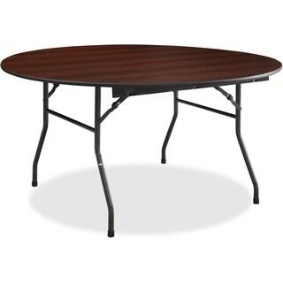 "Lorell Banquet Table - Round, 5/8"" Thick Top, 60""x18"", Mahogany"
