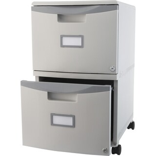 "Storex Single/Double Poly Filing Drawer - 11-3/4""x17-1/4""x10"",Platinum"