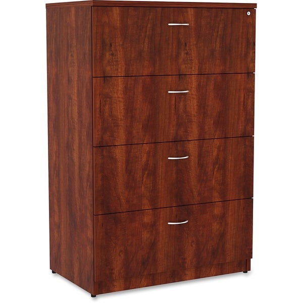 Lorell Essentials Cherry Laminated Steel Lateral File Cabinet