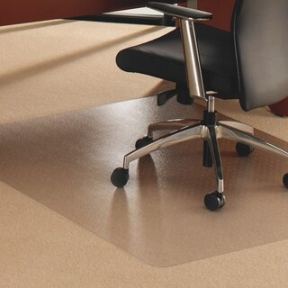 "Cleartex Rectangular Floor Protection Chairmat - XXL, 60""x79"", Clear"