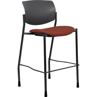 Lorell Orange Fabric Seat Contemporary Stool