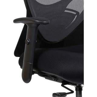 Lorell Black Fabric Two-way Adjustable Arm Kit