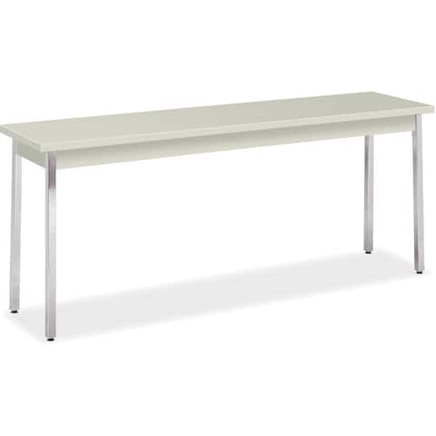 "HON All-purpose Utility Table - 72""x18""x29"", Loft Top/Chrome Legs"