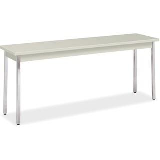"HON All-purpose Utility Table - 72""x18""x29"", Loft Top/Chrome Legs"