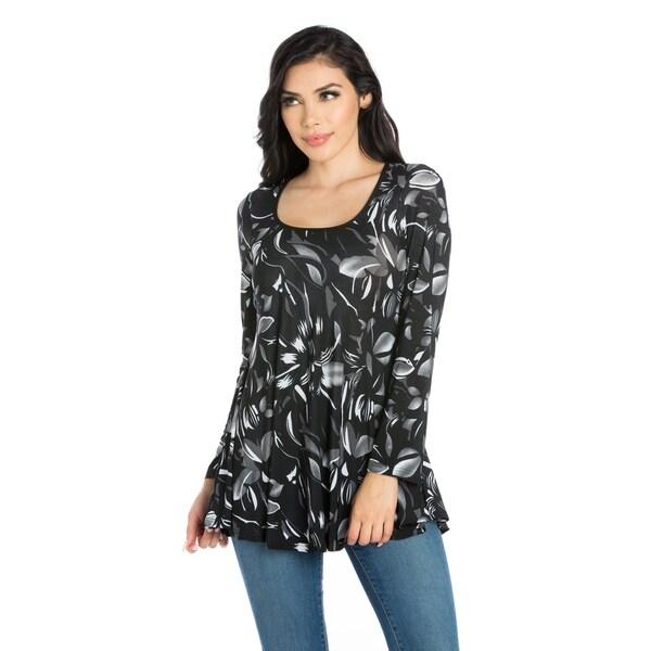 24/7 Comfort Apparel Women's Long Sleeve Tunic Top
