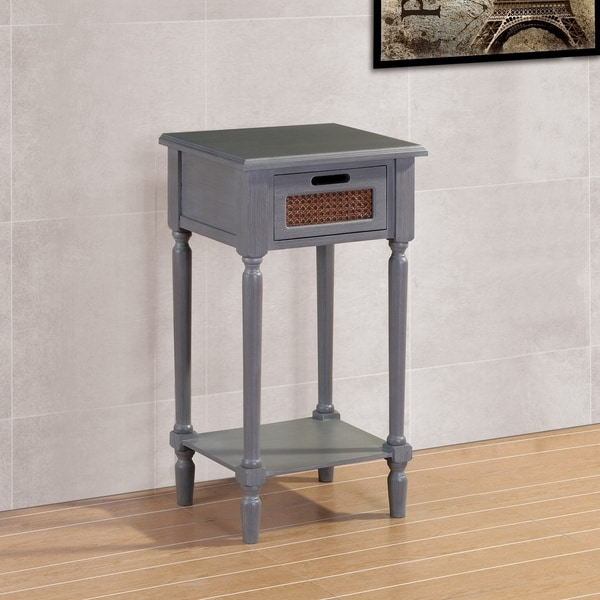 Best Quality Furniture Grey French Country End Table