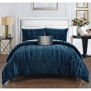 Link to Chic Home Kerk 4 Piece Comforter Set Crinkle Crushed Velvet Bedding Similar Items in Comforter Sets