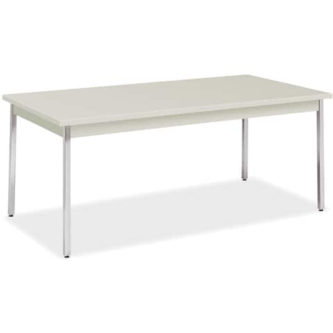 "HON All-purpose Utility Table - 72""x36""x29"", Loft Top/Chrome Legs"
