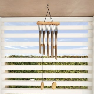 """Metal and Wood Wind Chime- 34.5"""" Tuned Metal Wind Chimes by Pure Garden"""