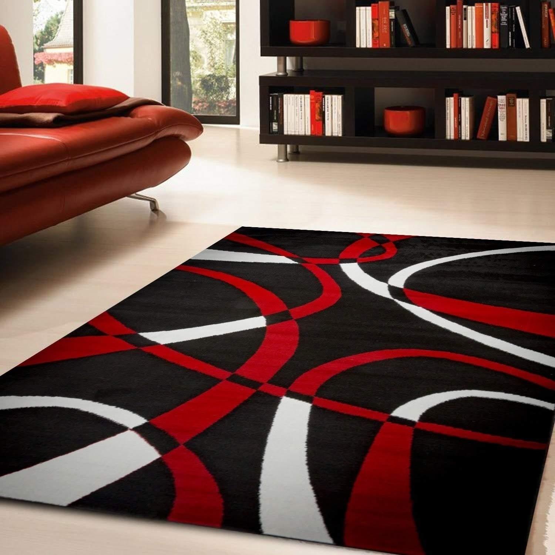 Katelynn Area Rug F 7500 Black/Red 8' x 10' - 8' x 10' (Red/Black - 8' x 10')