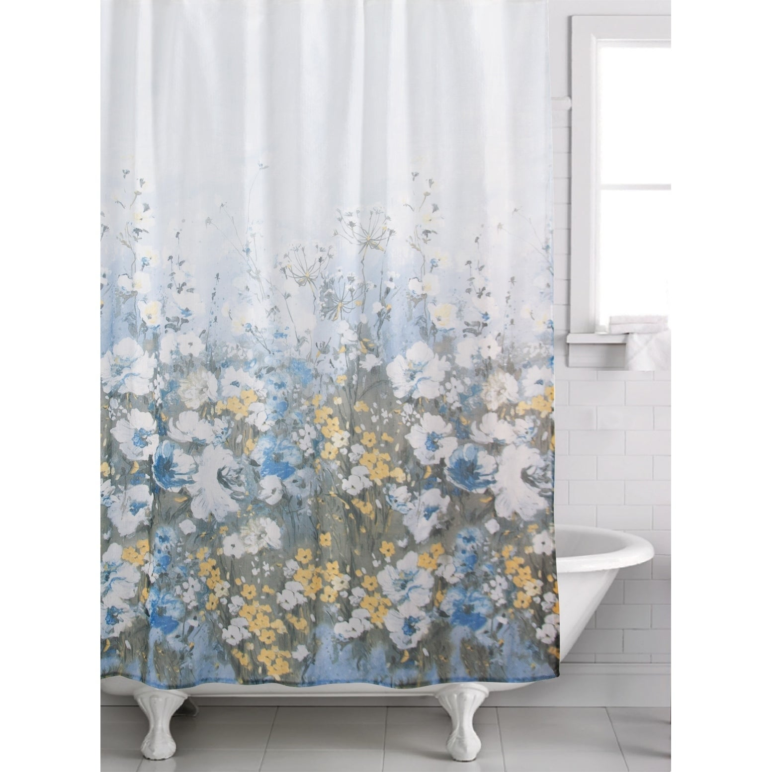Colorful Butterflys Print Fabric Shower Curtain 70x72 New In