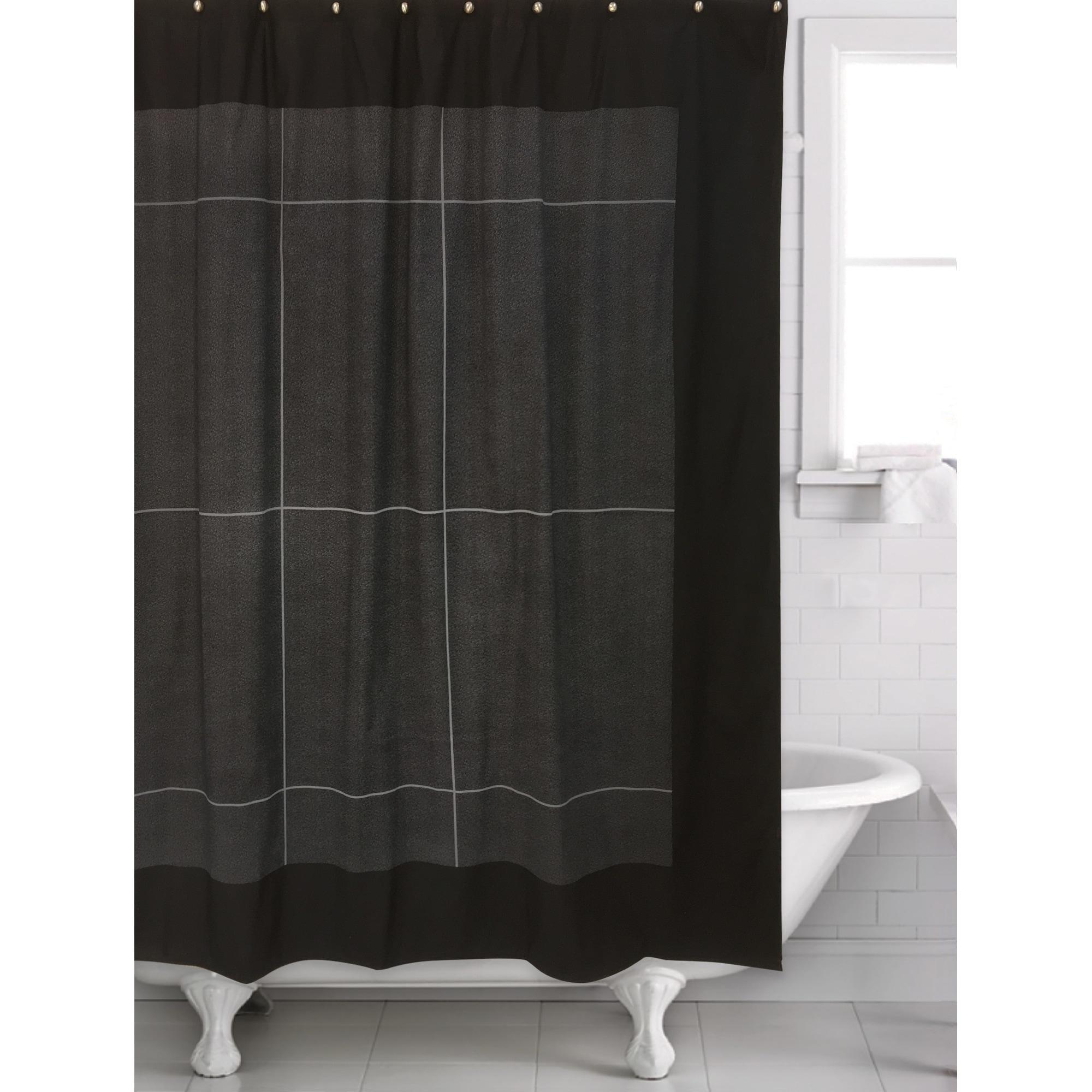 Granite Black Shower Curtain 70 X 72