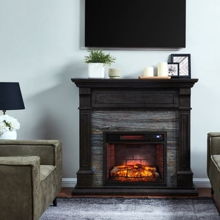 Harper Blvd Jacubas Faux Stone Media Infrared Fireplace
