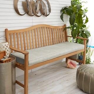 "Sunbrella Granite Grey Indoor/Outdoor Bench Cushion 37"" to 48"", Corded"