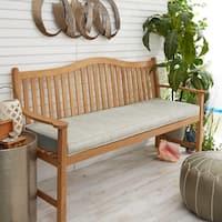"Sunbrella Granite Grey Indoor/Outdoor Bench Cushion 55"" to 60"", Corded"