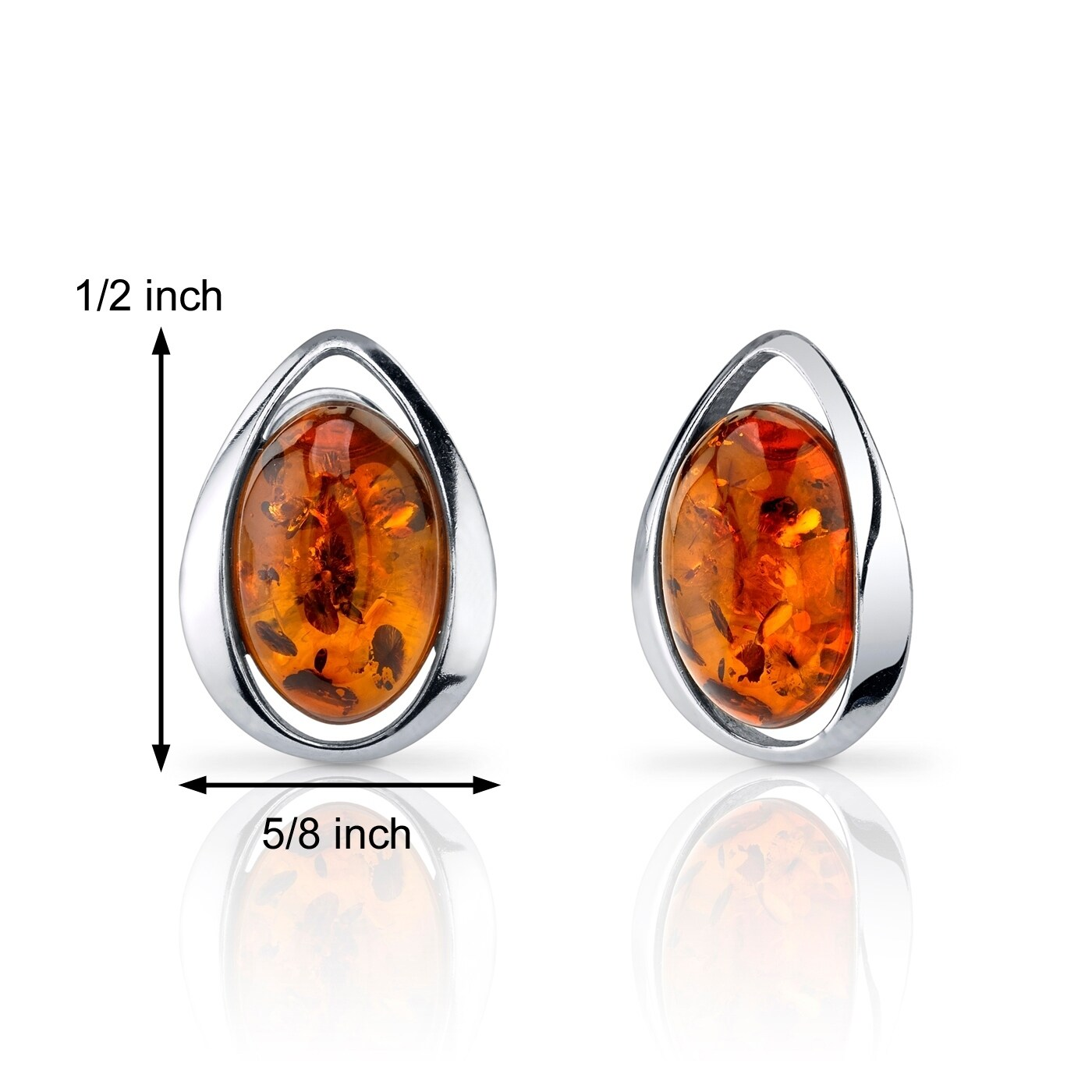 Amber Waterfall Sterling Silver Hook Earrings