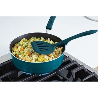 Rachael Ray Tools and Gadgets Lazy Wide Turner, 12-Inch, Marine Blue