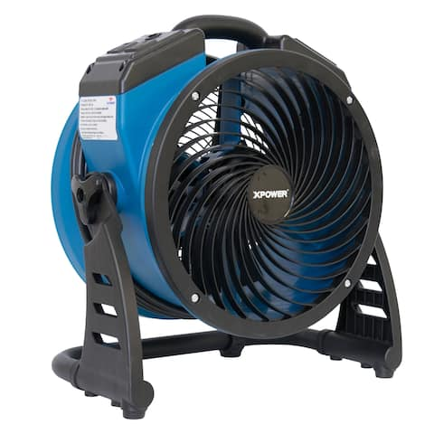 XPOWER P-21AR 1100 CFM 4 Speed Industrial Axial Air Mover, Blower, Fan with Build-in Power Outlets
