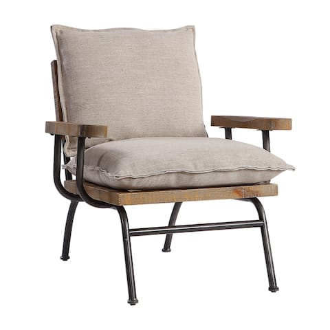 Uttermost Declan Natural Weathered Oak Accent Chair