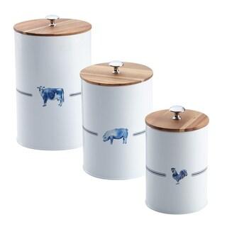 Paula Deen Food Storage Canister Set, 3-Piece, Country Barnyard