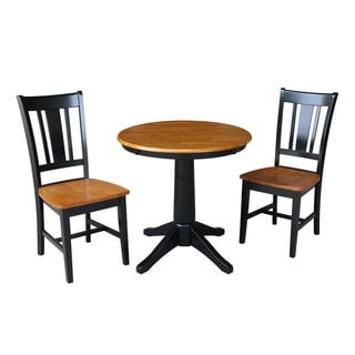 "30"" Round Top Pedestal Dining Table - With 2 San Remo Chairs"