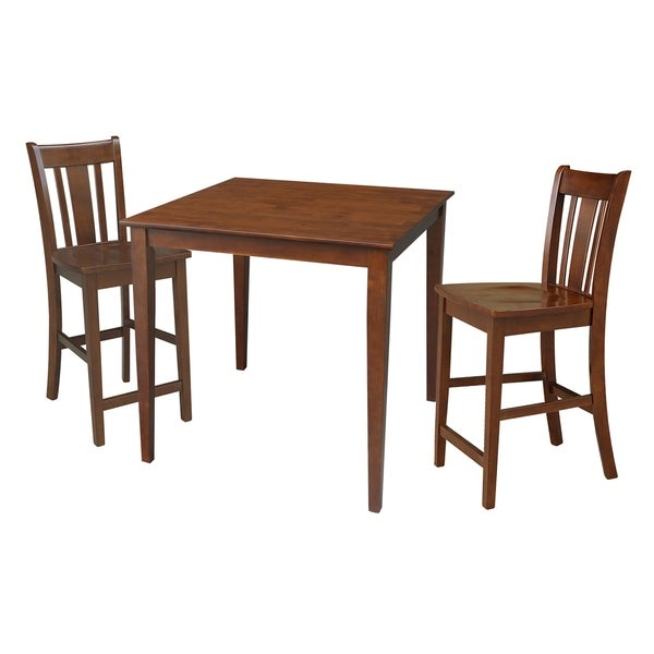 """36"""" x 36"""" Counter Height Dining Table With 2 Counterheight Stools"""