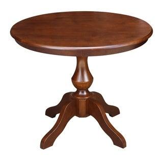 "36"" Round Top Pedestal Table - Espresso"