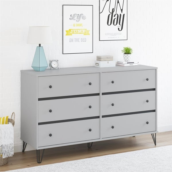 shop novogratz owen 6 drawer dresser on sale free shipping today overstock 23562283. Black Bedroom Furniture Sets. Home Design Ideas