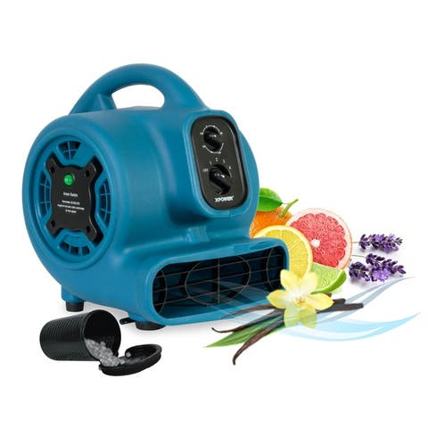 XPOWER P-260NT Freshen Aire 1/5 HP 800 CFM 4 Speed Scented Air Mover, Utility Fan, Dryer, Blower with Ionizer and Timer
