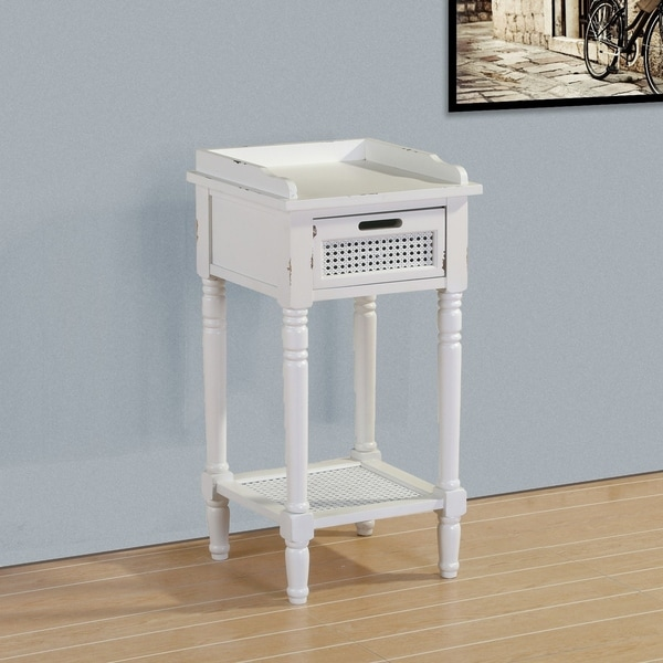Best Quality Furniture Distressed Rustic End Table