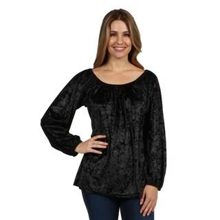 24/7 Comfort Apparel Women's Velvet Tunic Top