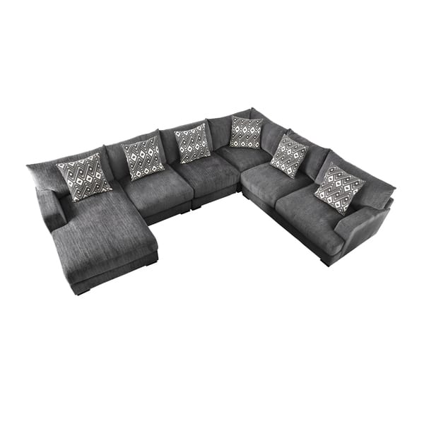 Collections Of Cleo Sectional Couchwith Ottoman