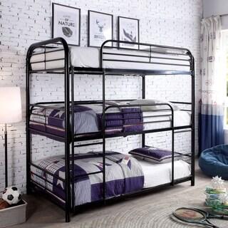Furniture of America Jackson Triple Twin Metal Bunk Bed
