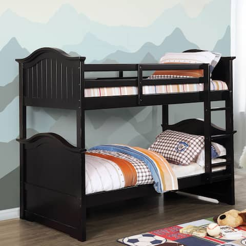 Morgan Rustic Twin Bunk Bed by FOA