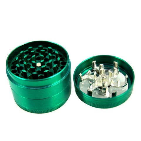 Zinc Alloy Hand Crank Herb Spice Crusher Muller Mill Tobacco Grinder
