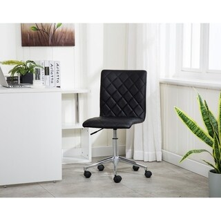 Porthos Home Arlo Armless Office Chair In PU Leather Upholstery