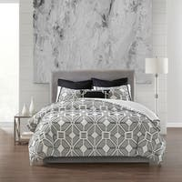 N Natori Shandong Black 3 Piece Cotton Yarn Dyed Comforter Set