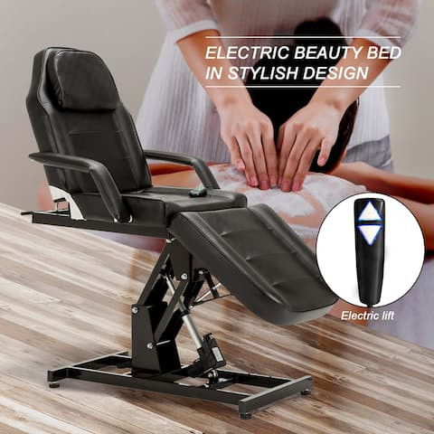BarberPub Electric Massage Tattoo Chair Facial Adjustable Equipment