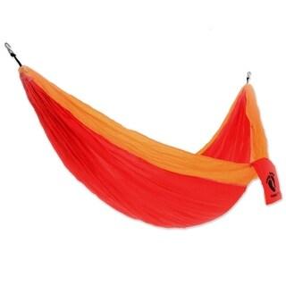 Novica Hang Ten Nylon Parachute Hammock, 'Blazing Sun For Hang Ten' (Double) - Indonesia