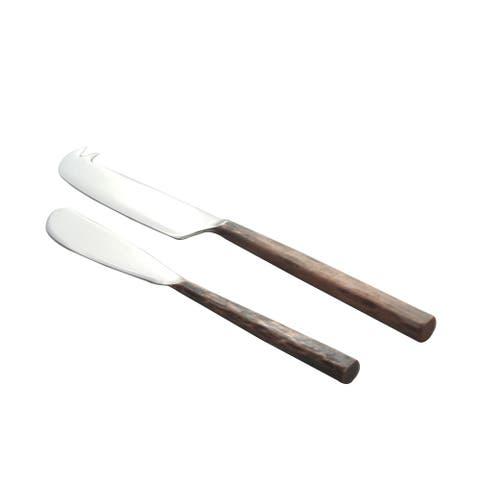 Copper Antique Sundundance Design Cheese Knife and Spreader 2 Pcs. Set.