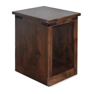 The Gray Barn Sycamore Rise Farmhouse Aged Whiskey Wooden Chairside Table