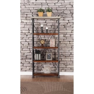 Carbon Loft Masekela Steampunk Chestnut Bookcase