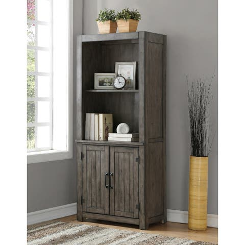 The Gray Barn Raven Gulch Smoked Grey Wood Bookcase