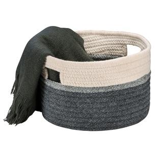 "Carmine Basket  - Natural & Grey 14""x14""x12"""