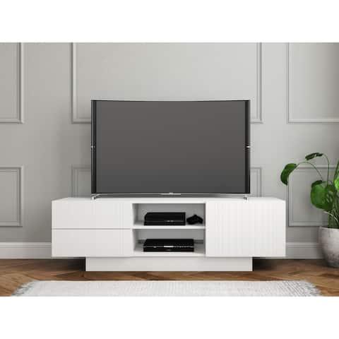 Nexera Marble TV Stand, White
