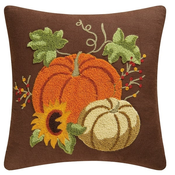 Autumn Splendor Rice Stitch 18 Inch Throw Pillow