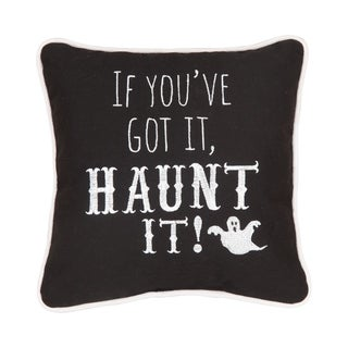Haunt It Embroidered 10x10 Throw Pillow