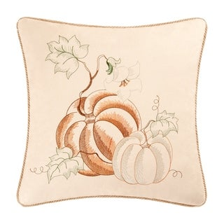 Pumpkins Embroidered 18 Inch Throw Pillow