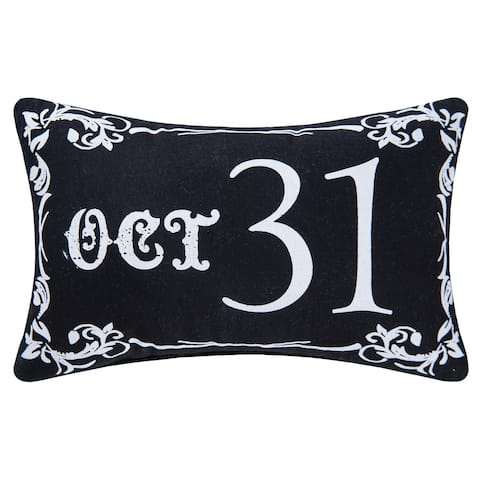 Goth Oct 31 Printed / Embroidered 8x12 Throw Decorative Accent Throw Pillow